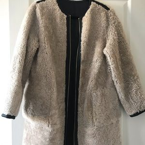 Kate Spade Reversible Shearling and Leather Coat
